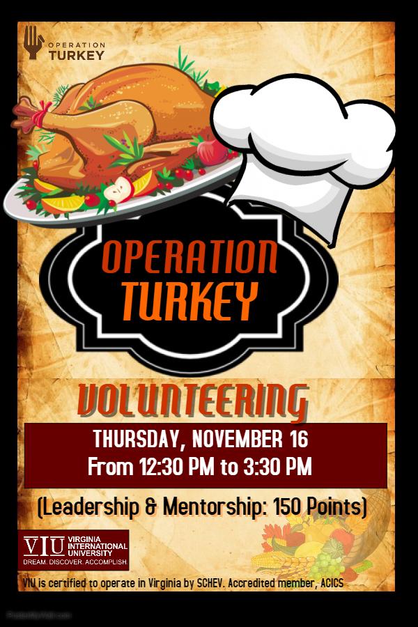 Volunteering Event: Operation Turkey