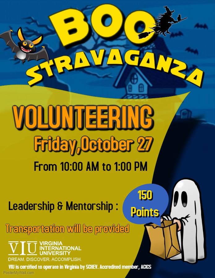 Boo Stravaganza Volunteering Event
